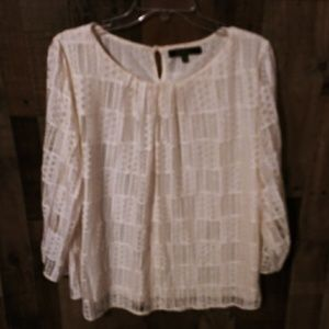 Calessa 3/4 sleeve lace top 2X